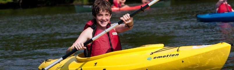 Boy on kayak.