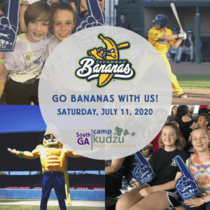 Flyer for a Savannah Bananas baseball game on July 11, 2020