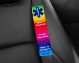 Diabetes alert seatbelt cover